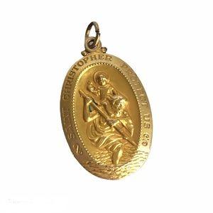 Vintage Saint Christopher Pendant 12K Gold Filled